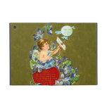 Cupid del vintage y tarjeta del día de San Valentí iPad Mini Coberturas
