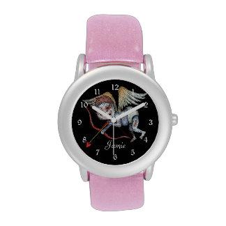 Cupid del zombi reloj de mano