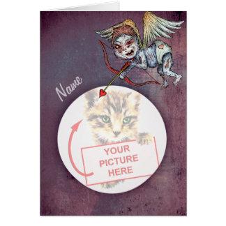 Cupid del zombi - tarjeta del día de San Valentín