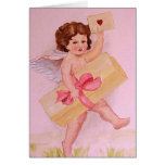 Cupid delivering Valentines treats Greeting Cards