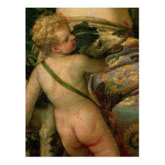 Cupid detalle de Venus y Adonis 1580 Tarjetas Postales