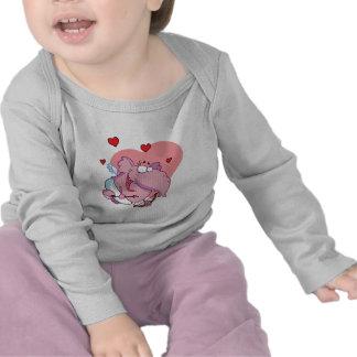Cupid divertido del elefante rosado camisetas