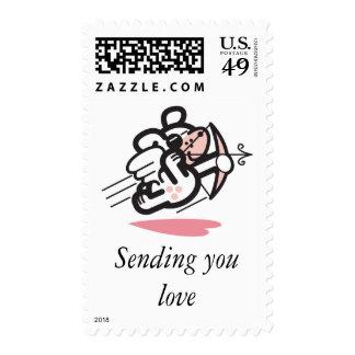 Cupid dog stamp