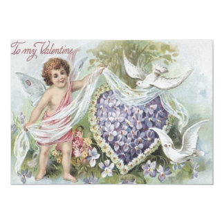 Cupid Dove Forget-Me-Not Daisy Wedding Invitations