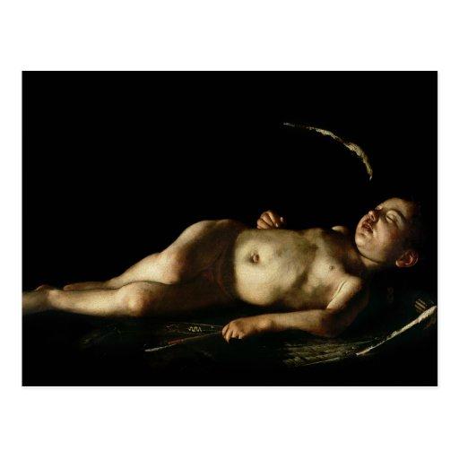 Cupid el dormir, 1608 postales