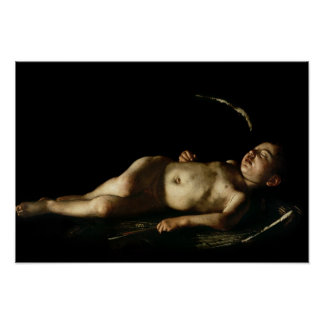 Cupid el dormir, 1608 póster