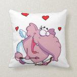 Cupid el elefante rosado almohadas