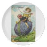 Cupid en la placa del huevo de Pascua Plato Para Fiesta