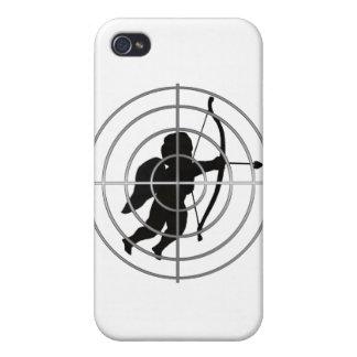 Cupid en vista añada su texto iPhone 4 cárcasa