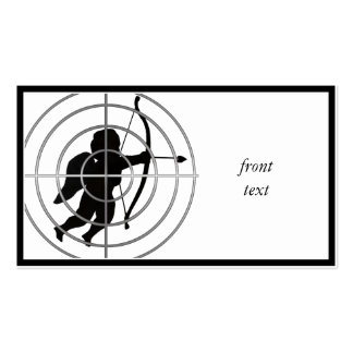 Cupid en vista (añada su texto) plantilla de tarjeta personal