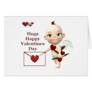 cupid envelope greeting card