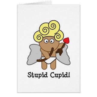 Cupid estúpido tarjeta pequeña
