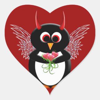 Cupid Evil Penguin™ Heart Stickers