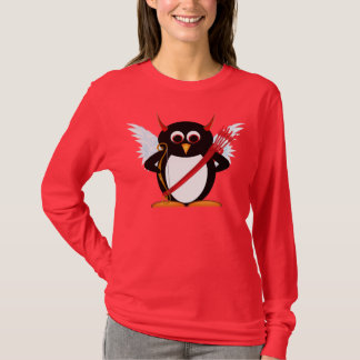 Cupid Evil Penguin™ Valentines Day Shirt