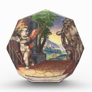Cupid fleeing from a demon; Emblemala amatoria; Award
