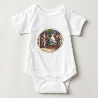 Cupid fleeing from a demon; Emblemala amatoria; Baby Bodysuit