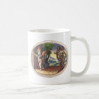 Cupid fleeing from a demon; Emblemala amatoria; Classic White Coffee Mug