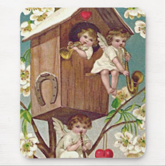 Cupid Flowers Birdhouse Heart Horseshoe Mouse Pad
