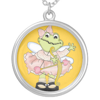 Cupid Frog with Bow and Arrow and Waving Custom Necklace
