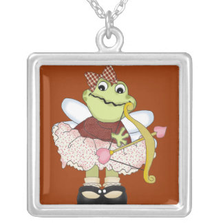 Cupid Frog with Bow and Arrow Pendant