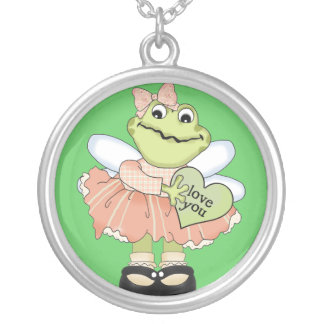 Cupid Frog with Green Heart Jewelry