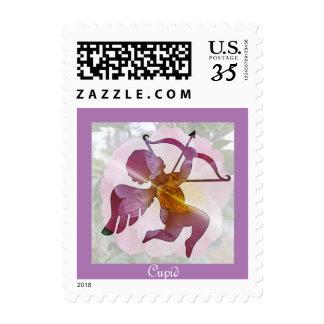 Cupid, god of love - postage stamp