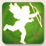 CUPID GREEN BACKGROUND PRODUCTS DRINK COASTER