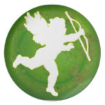 CUPID GREEN BACKGROUND PRODUCTS PARTY PLATE