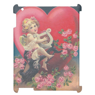 Cupid Harp Heart Pink Roses Rose Cover For The iPad 2 3 4