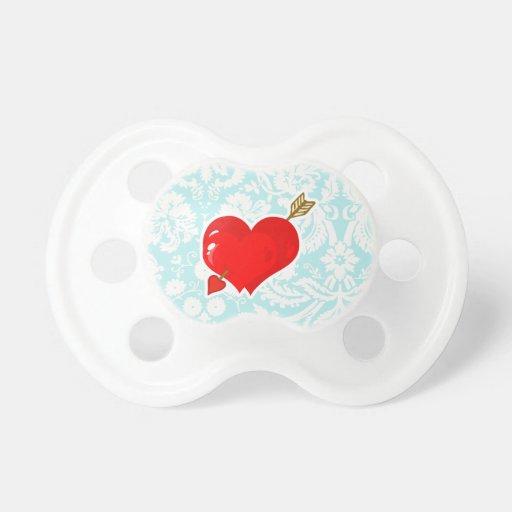 Cupid Heart & Arrow; Cute Pacifier