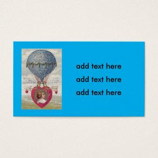 Cupid Heart Arrow Hot Air Balloon Business Card