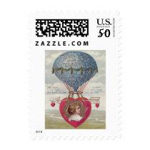 Cupid Heart Arrow Hot Air Balloon Postage
