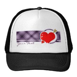 Cupid Heart & Arrow; Purple Trucker Hat