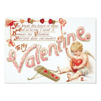 Cupid Heart Bow Arrow Mend Wedding Invitation