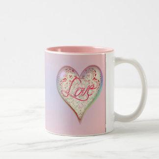 CUPID HEARTS LOVE & LACE by SHARON SHARPE Coffee Mugs