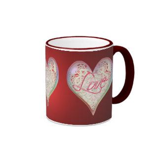 CUPID HEARTS LOVE & LACE by SHARON SHARPE Coffee Mug