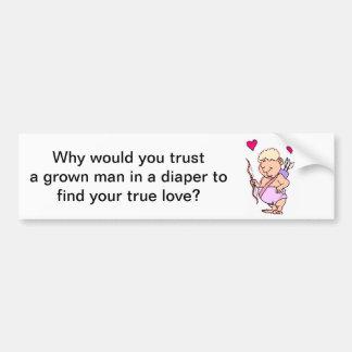 Cupid Humor Valentines Day Bumper Sticker