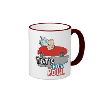 Cupid Humor Valentines Ringer Mug