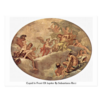 Cupid In Front Of Jupiter By Sebastiano Ricci Postcard