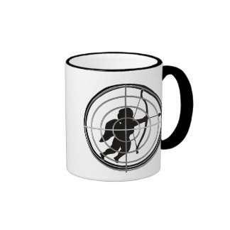Cupid in Sight (Add your text) Ringer Coffee Mug