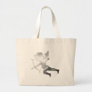 Cupid in silver jumbo tote bag