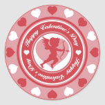 Cupid in the Round Round Stickers