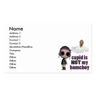 cupid is not my homeboy punk girl Double-Sided standard business cards (Pack of 100)