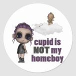 cupid is not my homeboy punk girl stickers