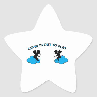 Cupid is Out to Play Star Sticker