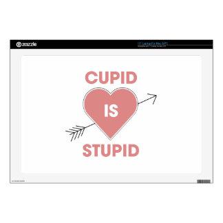 """Cupid Is Stupid 17"""" Laptop Skin"""