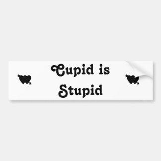 Cupid is Stupid 2 Car Bumper Sticker