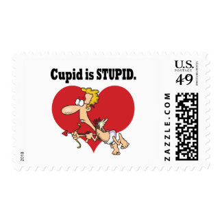 cupid is stupid stamps