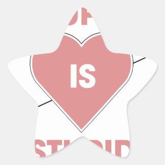 Cupid Is Stupid Star Sticker