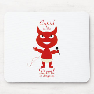 Cupid is the devil. Anti-Valentine t-shirts & more Mouse Pad